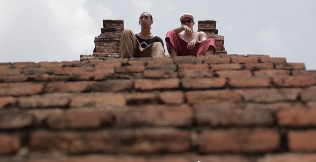 TEAM FARANG: Thailand's freerunning duo, Anan Anwar and Jason Paul, at Ayutthaya's historical temple site.