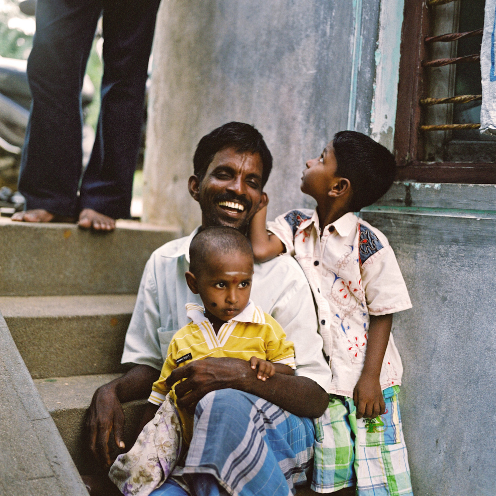FAMILY: Jagada Guru, whose kothi name is Arundhati, sits with his two children.