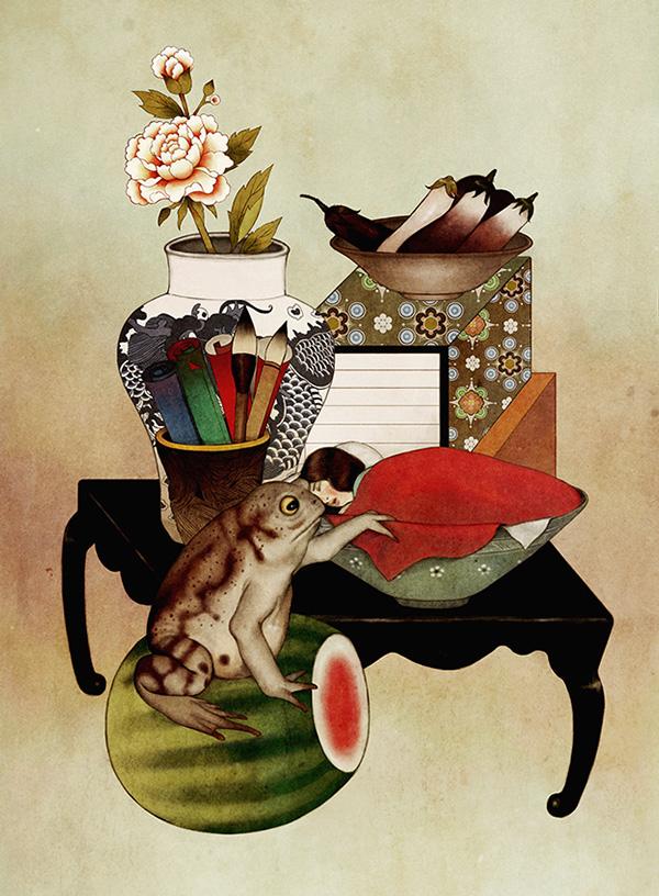 Thumbelina and Toad 2014. Digital painting