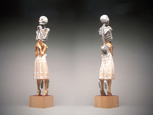 yoshitoshi-kanemaki-sculpture-skeleton-girl-praying