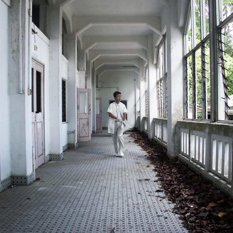 34/50 - At the old Changi Hospital, which has been closed to public since 1997. It served as a prison camp during WWII.