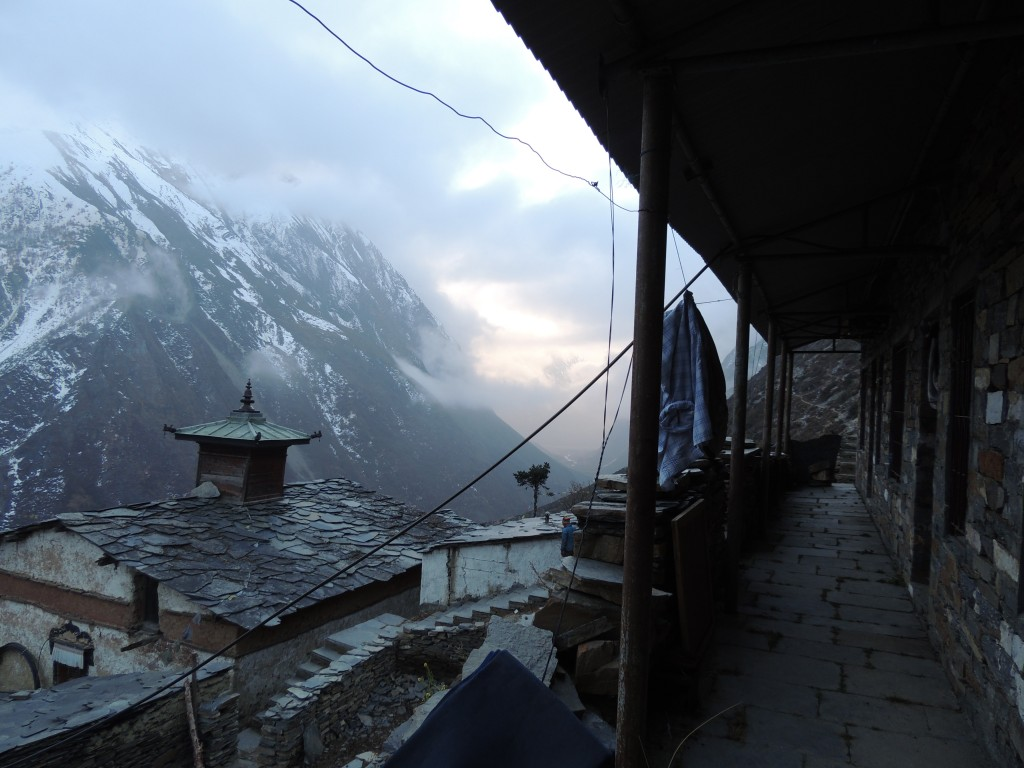 Arriving in Mu Gompa Monastery