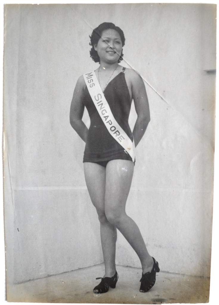 Tai Ma posing proudly with her sash, which was unfortunately burned during the Japanese Occupation.