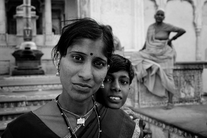 People in a temple_Pushkar_Rajasthan India
