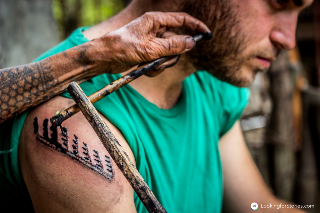 Whang od the kalinga tattoo maker contented for Philippine island tattoo