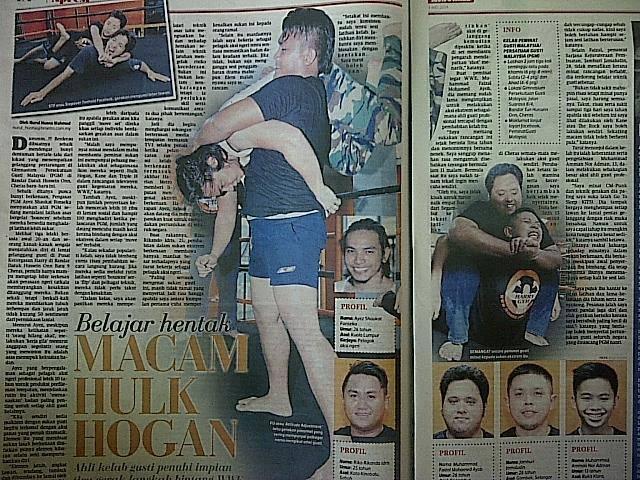 Ayez in a Malaysian newspaper.