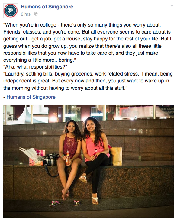 A couple of ladies reflecting on life after college.