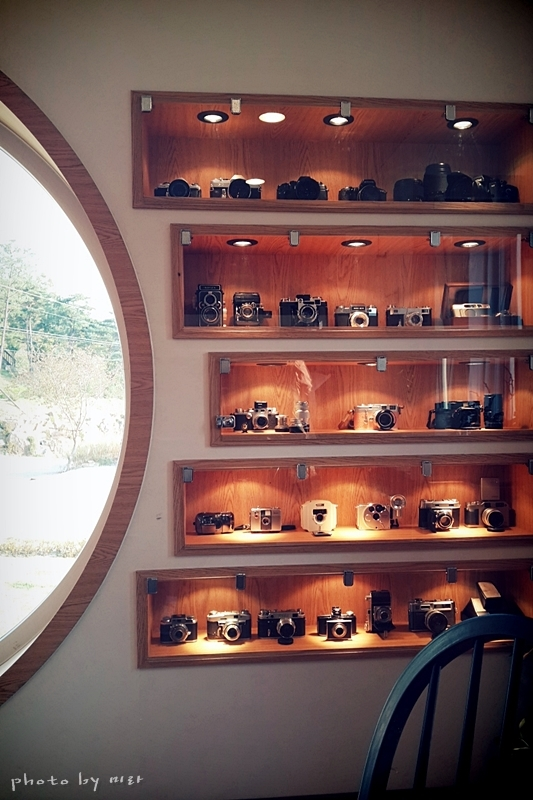 A camera-themed interior guaranteed to set photography lovers' hearts aflutter.