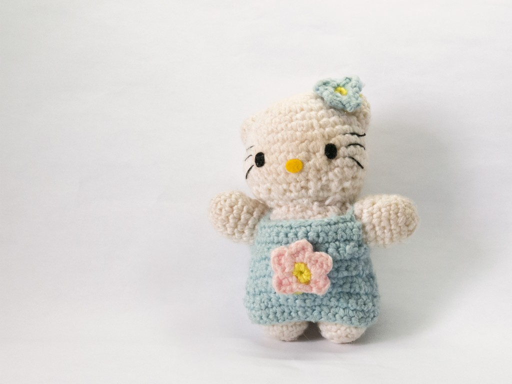 A Hello Kitty toy made by Kelly, then aged seven.