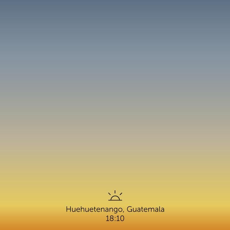 Huehuetenango, Guatemala. 6.10pm