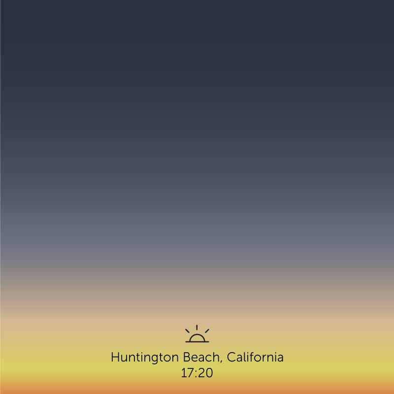Huntington Beach, California. 5.20pm