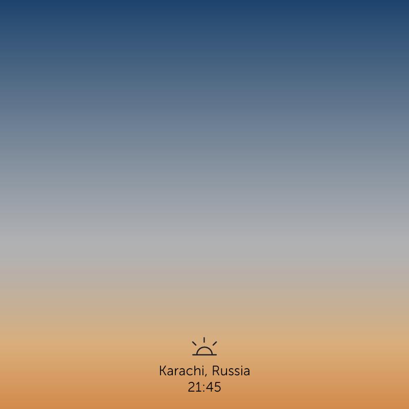 Karachi, Russia. 9.45pm