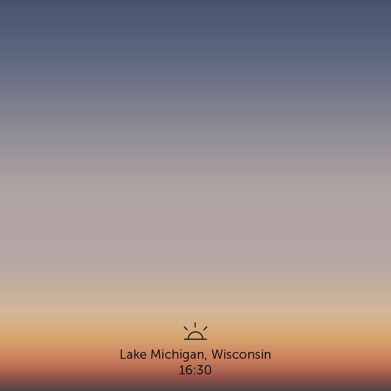Lake Michigan, Wisconsin. 4.30pm