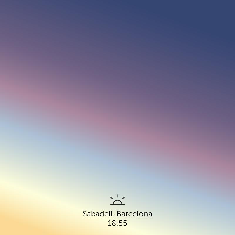 Sabadell, Barcelona. 6.55pm.