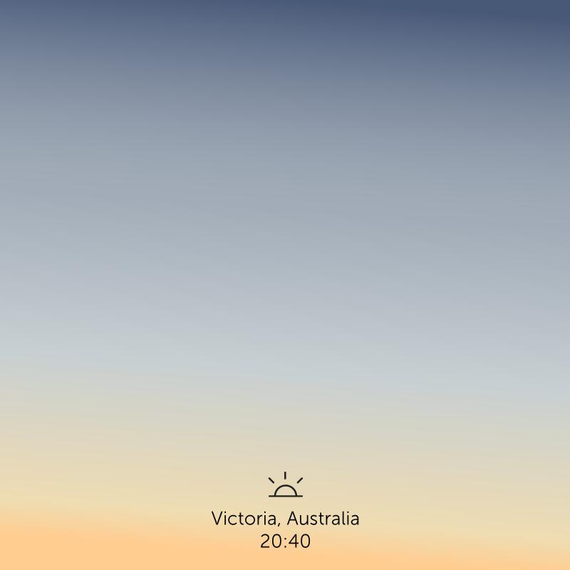 Victoria, Australia, 8.40pm