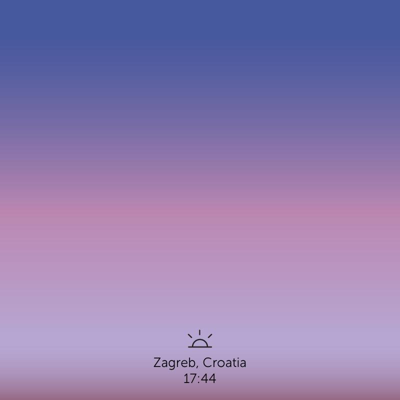 Zagreb, Croatia. 5.44pm