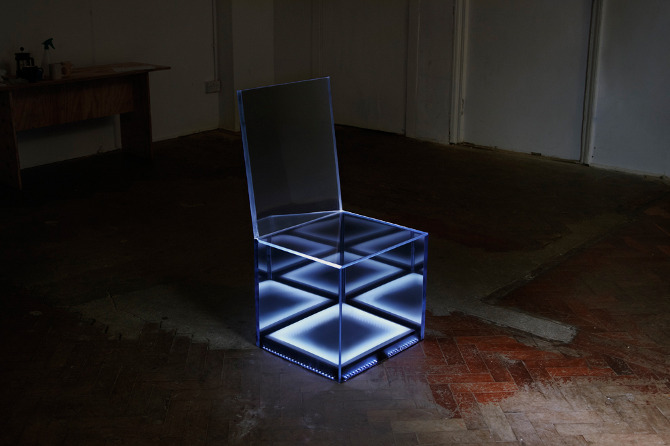 The Affinity Chair beats like a heart as its sitter approaches